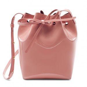 Mansur Gavriel Blush Pink Mini Patent Bucket Bag